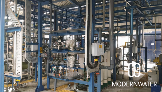 Modern Water All-Membrane Brine Concentration Plant